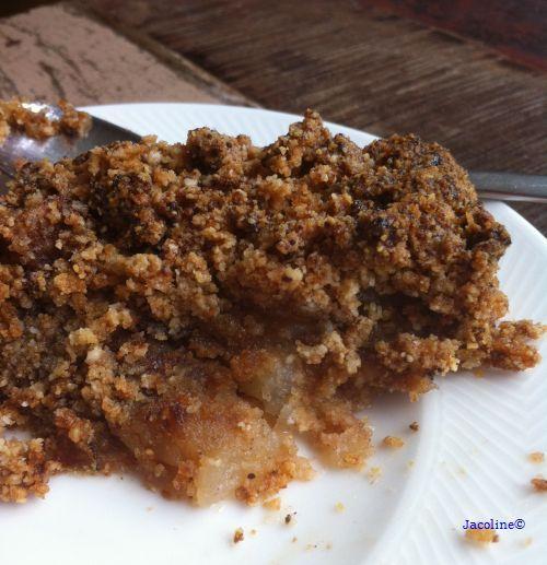 Gezond leven van Jacoline: Suikervrije Appelcrumble met amandelmeel (+ gewone versie)