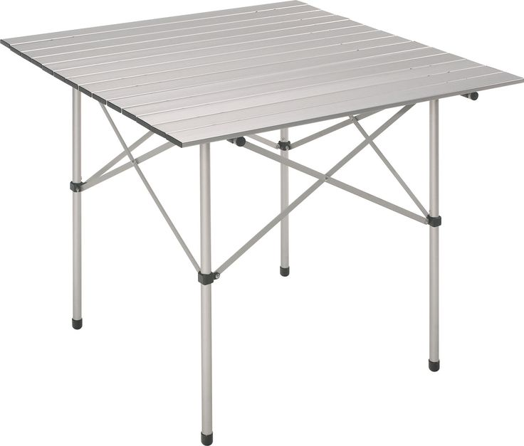 Lightweight anodized aluminum table is ideal for a pop-up picnic like Diner en Blanc Dallas