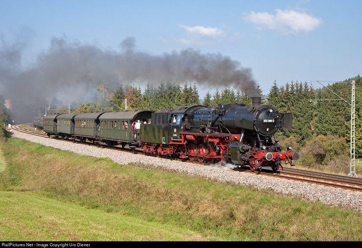 Steam train from Rottweil to Schwenningen with 052 988 of WTB Wutachtalbahn during the Rottweiler Steam-Days.