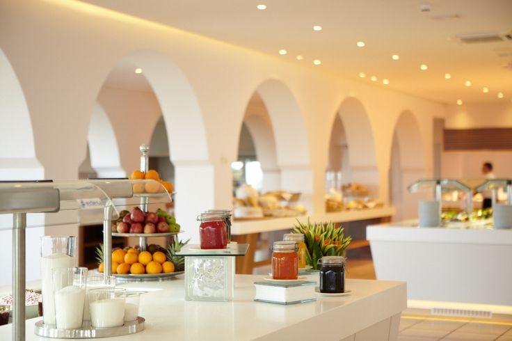 Fruits, jams and healthy choices for breakfast. #breakfast #buffet #greek #marbellacorfu