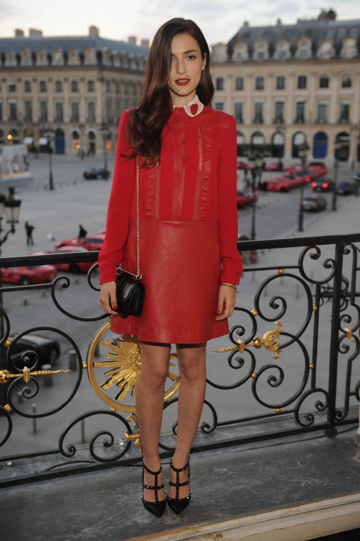 Eleonora Carisi attending the Cash & Rocket charity event at the Valentino headquarters in Place Vendome, Paris.