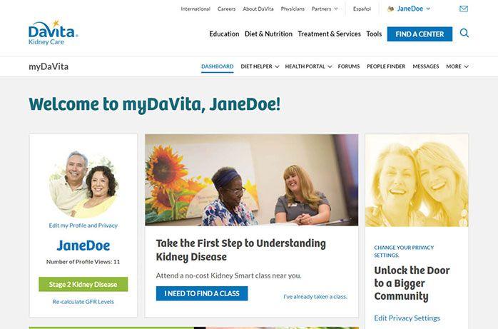 Mydavita Tour Davita Kidney Care Davita Kidney Disease Stages Kidney
