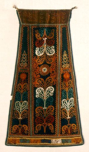Apron, 19th century Karagouna, Thessaly Athens, Museum of Greek Folk Art, Inv. No. 6633. The Karagounides were indigenous Greek inhabitants ...