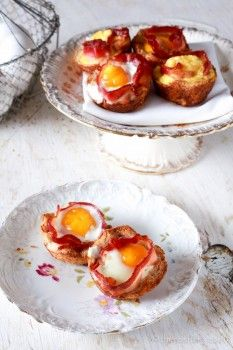Bacon + Egg Toast Cups – The Noshery