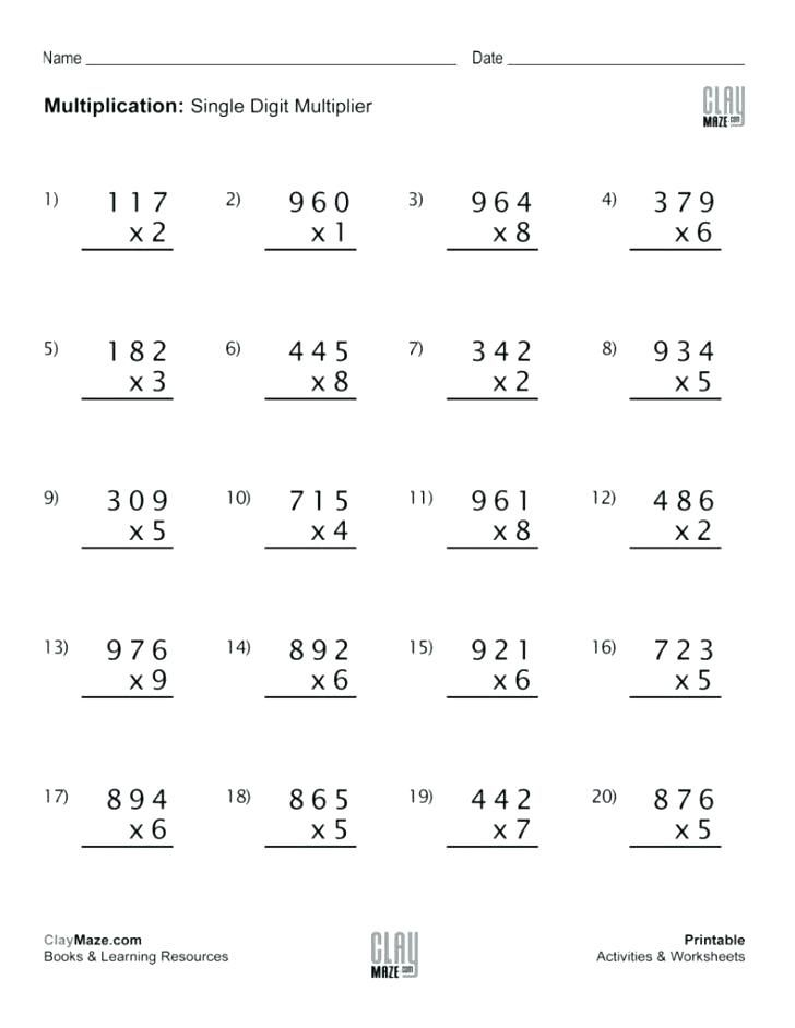 نتيجة بحث الصور عن Grade 5 Double Digit Multiplication Worksheets Subtraction Worksheets Free Math Worksheets Multiplication Facts Worksheets