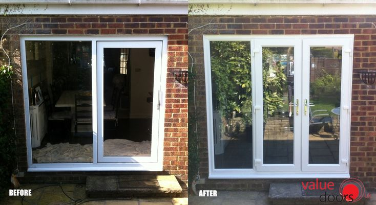This customer swapped their old patio door for a new uPVC French Door! http://www.valuedoors.co.uk/patio-french-doors/upvc-french-doors
