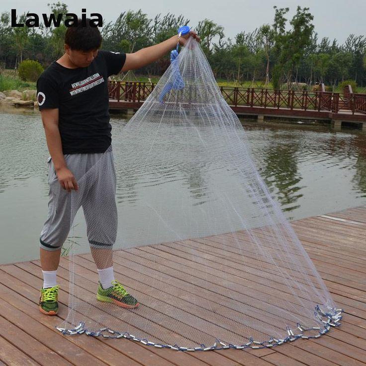 Lawaia diameter 2 4 fishing net american hand casting for Throw nets for fishing