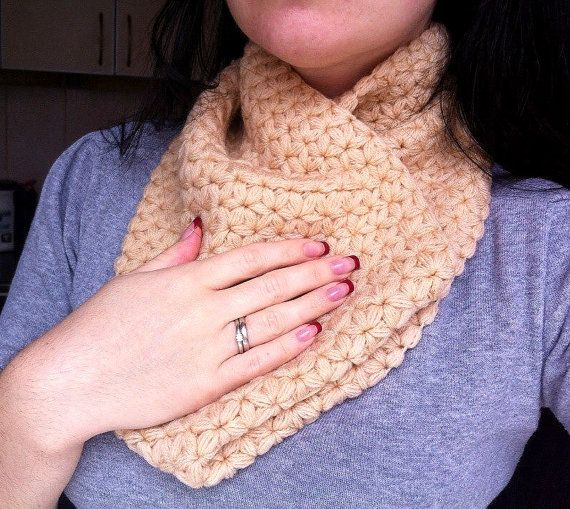 Crocheted snood / Womens crochet snood / by AnitaKnittingStudio