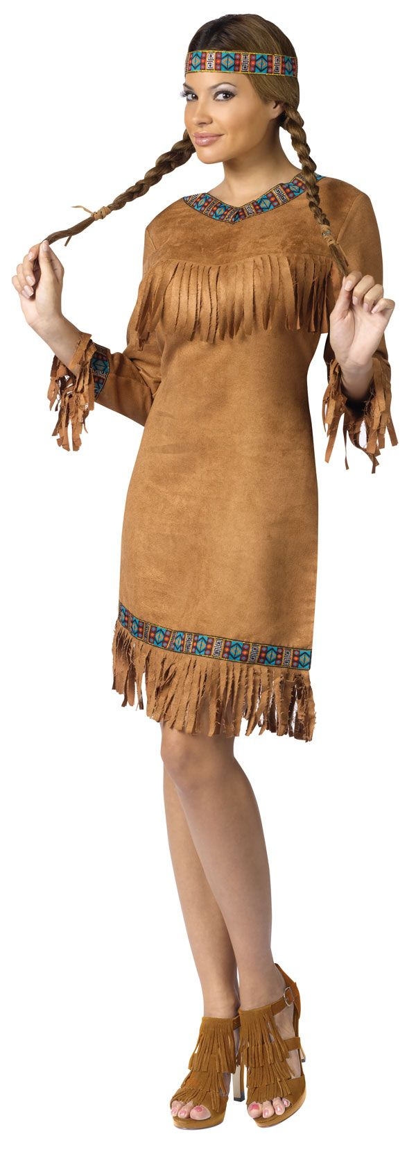 I take issue with the cultural appropriation involved in Native American 'costumes' but am pinning this because I love those shoes.