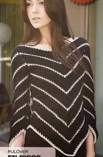 Ripple crocheter sweater - with diagram
