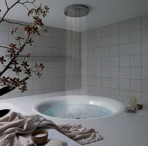 Unwind in this gorgeous bath/shower duo. | Serenity Space | Pinterest | Bathroom, Home and House