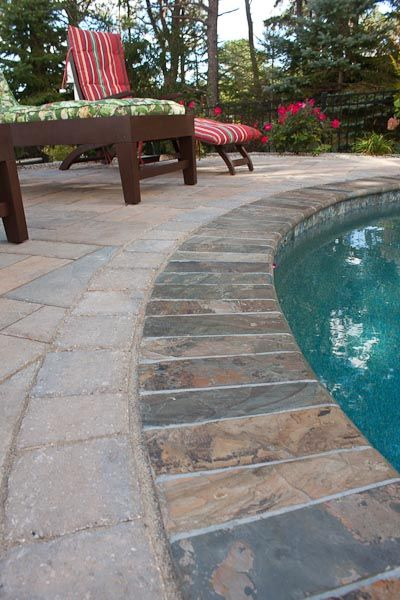 Pool Tile And Coping Ideas captivating safety grip brick pool coping with swimming pool tile 3x3 for pool waterline tile ideas Bullnose Coping For Inground Pools Stone Bullnose Coping