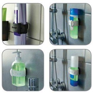 Shampooholder, sort, 2 stk. - Badeværelsestilbehør - Badeværelse - Produkter