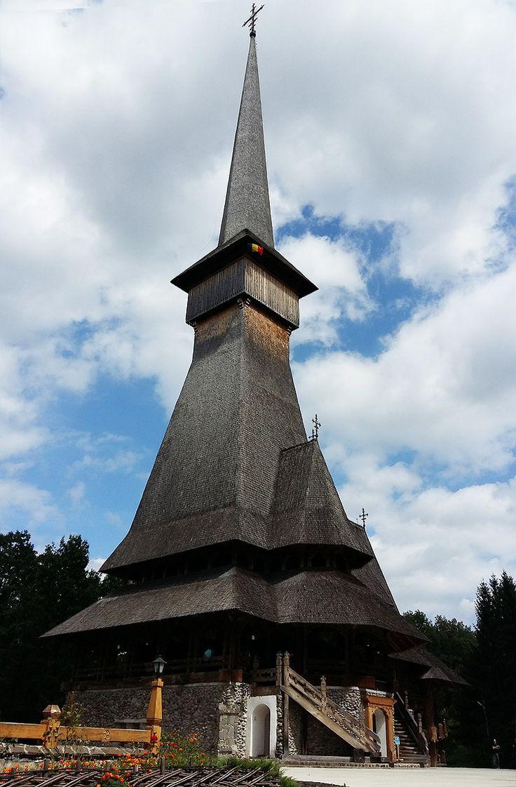 Sapanta Peri Monastery, Traditional wooden church in Maramures County, Romania – Travel around the world #SapantaPeriMonastery #tallestchurshintheworld