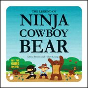 Chickadee Jubilee: Have You Heard The Legend of Ninja, Cowboy, Bear a book and playing a game