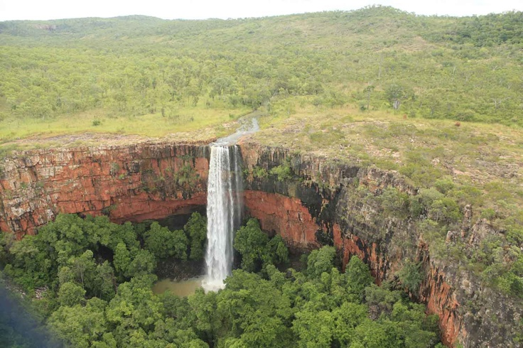 The amazing Falls at Walcott Inlet viewed above from the Great Escape Chopper