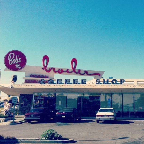 Bob's Big Boy Broiler, Downey, California, Downey, California — by A Secret Forest. This building is the only thing this city has going for it. Sorry Downey, CA.