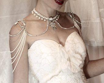 Collier pour les épaules collier de toile de fond par mylittlebride