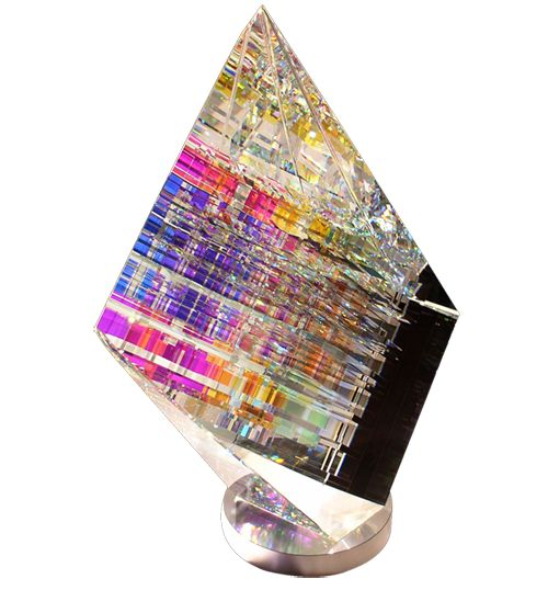 Aerial. Cold glass sculpture by Jack Storms. Artist video here - https://www.youtube.com/watch?v=PeMGRMwarKI