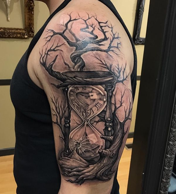 This tattoo screams that time is running and you can not stop it!