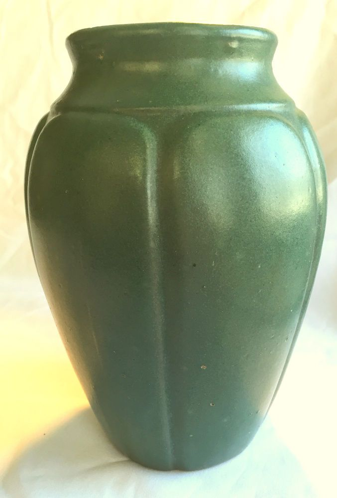 Pictures Of Pottery Barn Bedrooms: Vintage Zanesville Art Pottery Vase Large Matte Green