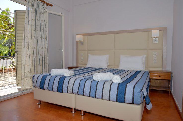 luxury corfu apartment, double bed