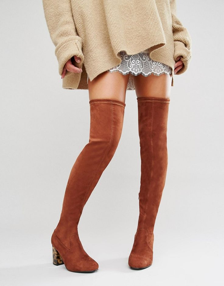 Image 1 of ASOS KADE Heeled Over The Knee Boots