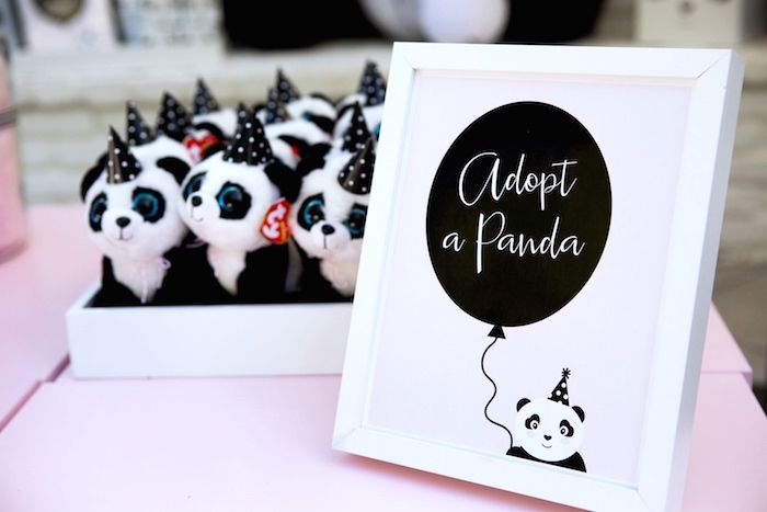 Adopt a Panda station from a Party Like a Panda Birthday Party on Kara's Party Ideas | KarasPartyIdeas.com (19)