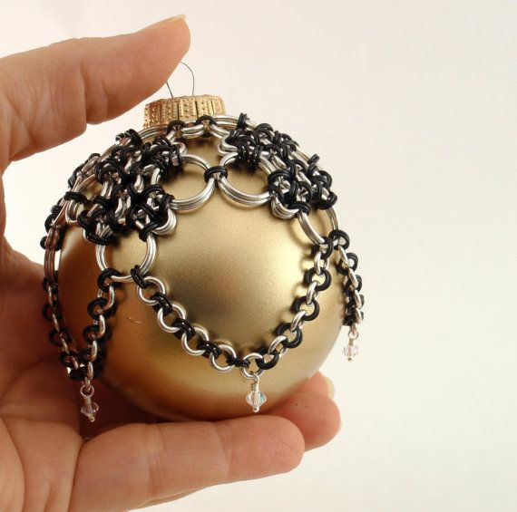 Deluxe Christmas Ornament Chainmaille and Crystals by unkamengifts - perfect gift for the person who has everything...and I have several of those on on my list!