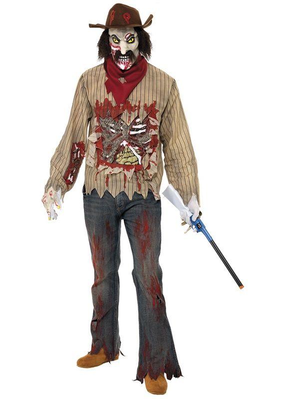 Kowboj w stylu zombie urwał się z westernu i wybiera się na Halloween :)