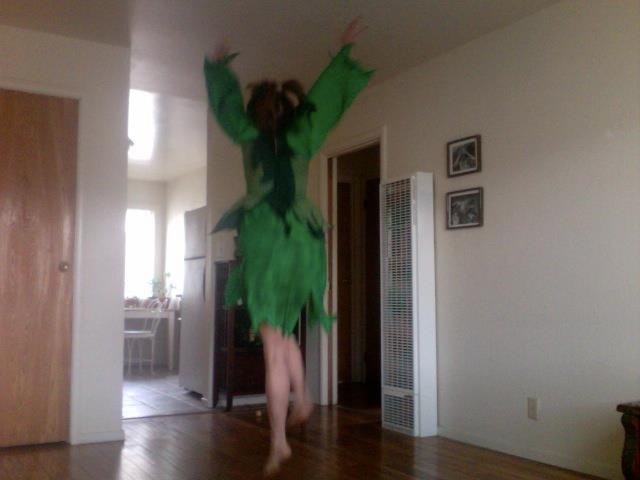 Writer and artist Tantra Bensko in her Dancing Green Sprite aspect. :)