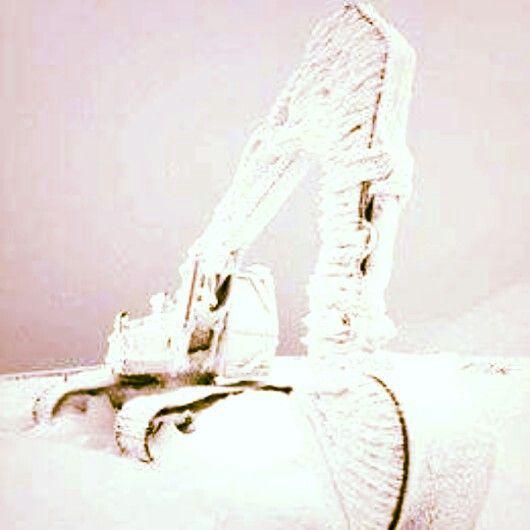 ... some snow finally ...