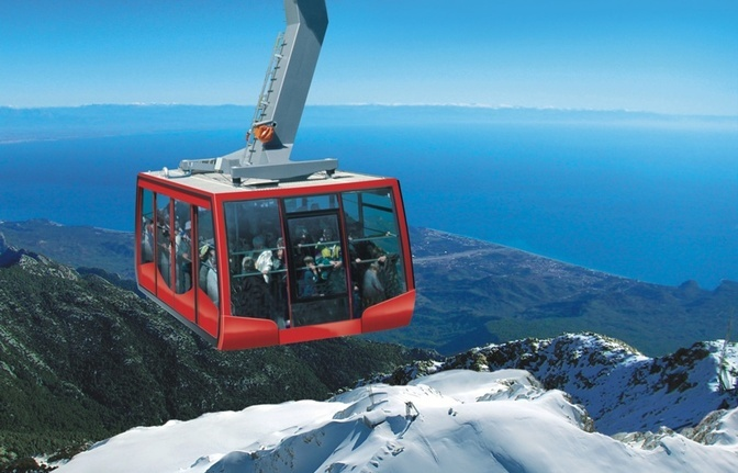 Olympos Cable Car to Tahtali Mountains in Turkey