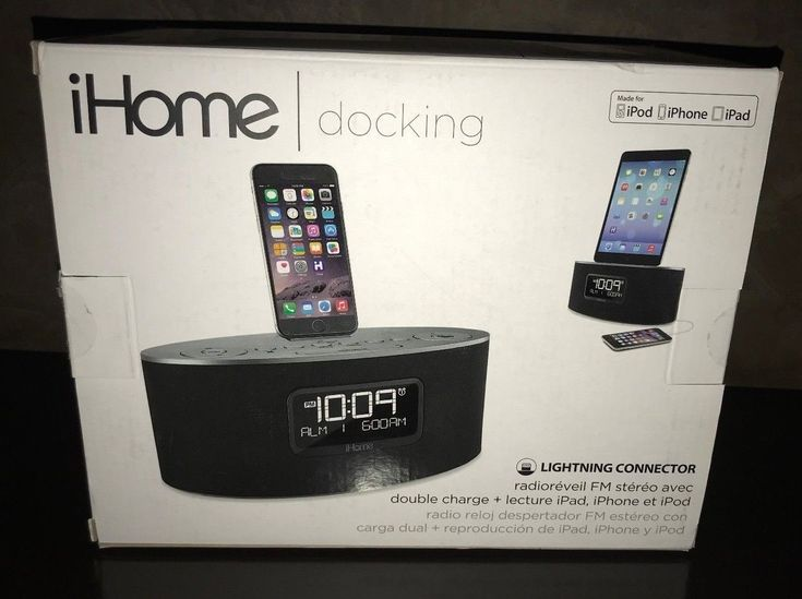 iHOME: Docking:Fm Stereo Clock Radio with Dual Charge: