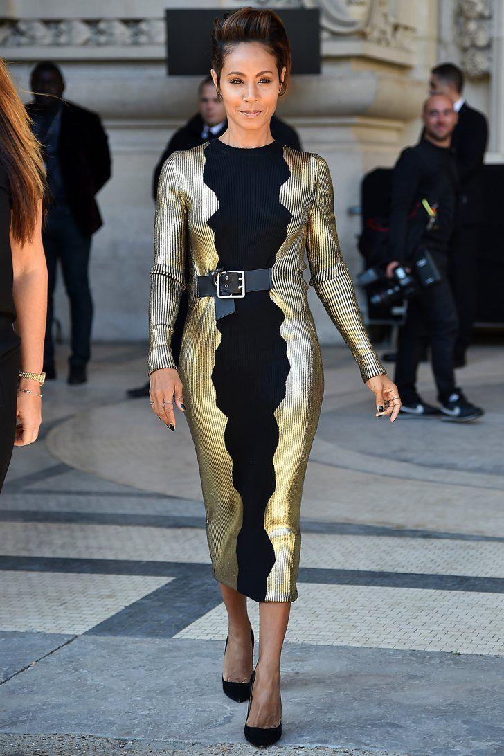 Pin for Later: Les Célébrités Se Bousculent à la Fashion Week de Paris Jada Pinkett Smith Au défilé Guy Laroche.