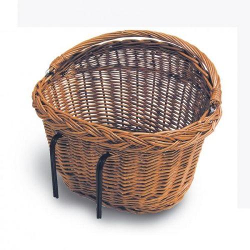 Klassisk pilkurv til å ha foran på sykkelstyret eller bak på bagasjebæreren.Kroker til å feste kurven til sykkelstyre eller bagasjebærer er inkludert.Størrelse 39*27*22cm