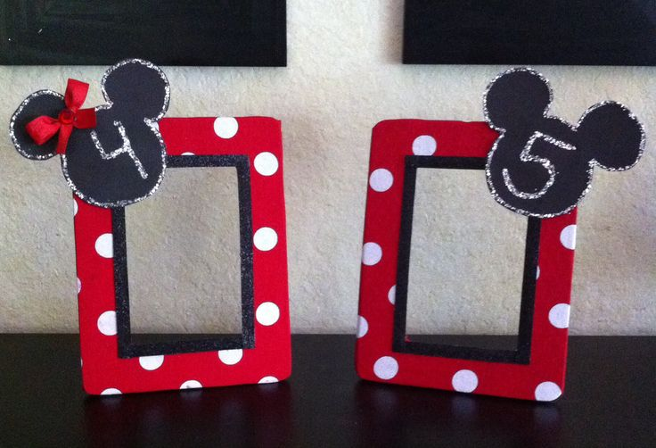 DIY Minnie & Mickey Mouse picture frames