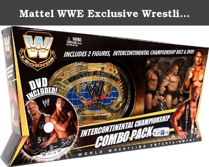 Mattel WWE Exclusive Wrestling Championship Combo Pack Includes The Rock Stone Cold Steve Austin Action Figures, Championship Belt DVD. WWE Championship Title Belt with Legends Action Figures Stone Cold and The Rock is a musthave for WWE fans! Get ready for the ultimate WWE combo pack celebrating two ultimate rivals Stone Cold Steve Austin and The Rock! Commemorating their epic battle for the Intercontinental Championship, this combo pack includes * A onetime adjustable Intercontinental...