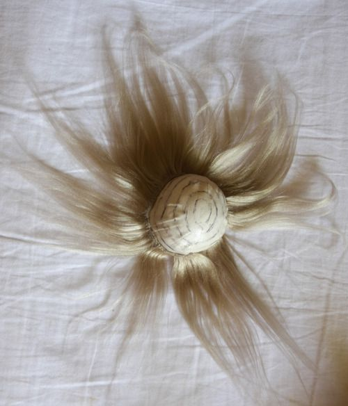 Making A Brushed Yarn Wig (Part 3) - Making The Wig