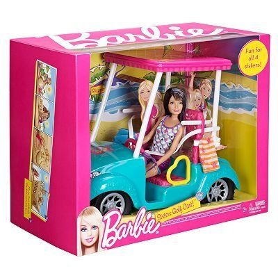 Barbie Sisters Golf Cart Set by Mattel toy gift idea birthday by Barbie Sisters…