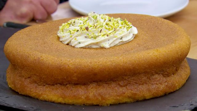 Make Chetna's orange savarin with cinnamon cream recipe as featured on The Great British Baking Show airing on PBS.