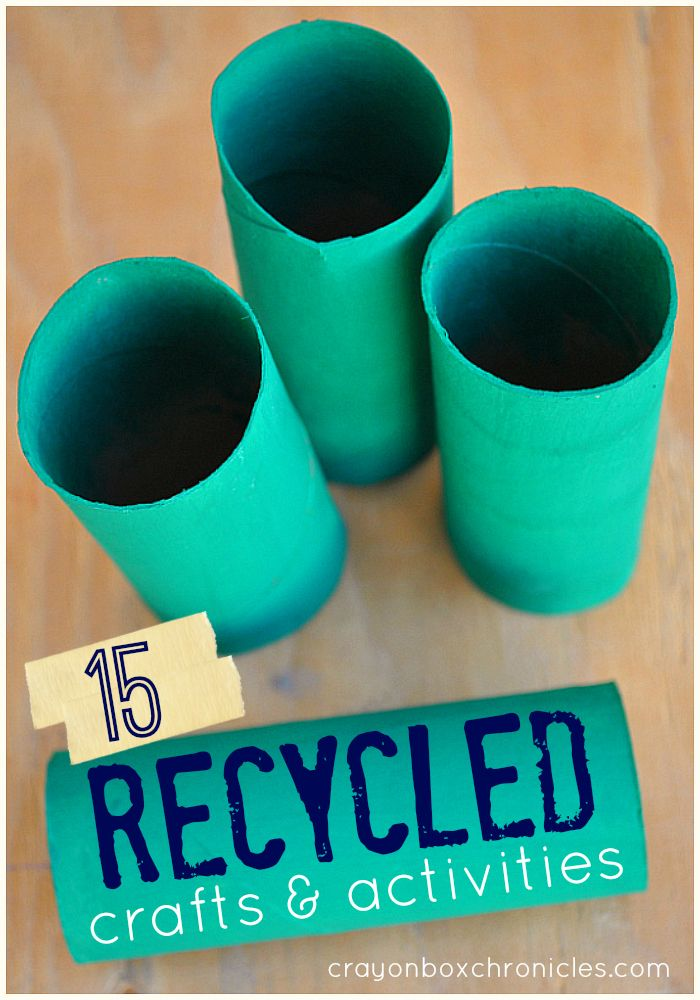 Love to recycle? 15+ creative #recycledcrafts and activities for kids by Crayon Box Chronicles