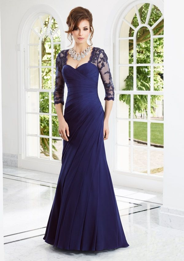 Bolero Evening Dress And Mother Of The Bride Dress From VM By Mori Lee Style 70906 Chiffon/Lace Dress