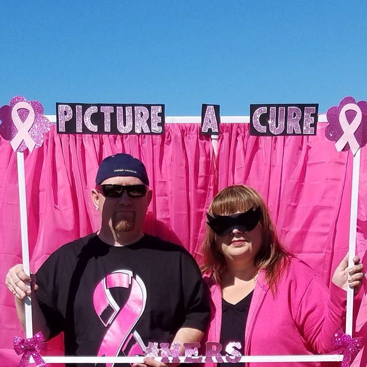 HERS Breast Cancer Foundation 5k 10k 2016 photo prop frame pink backdrop