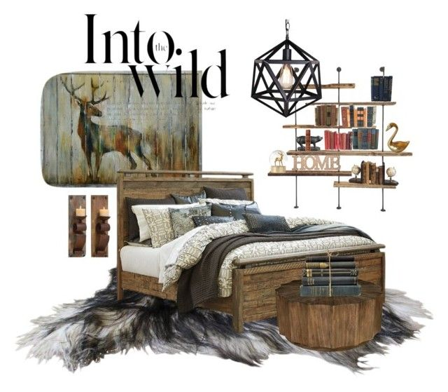 """""""Winter Cabin"""" by mikaelajane17 on Polyvore featuring interior, interiors, interior design, home, home decor, interior decorating, Crestview Collection, Authentic Models, Decorative Leather Books and ELK Lighting"""