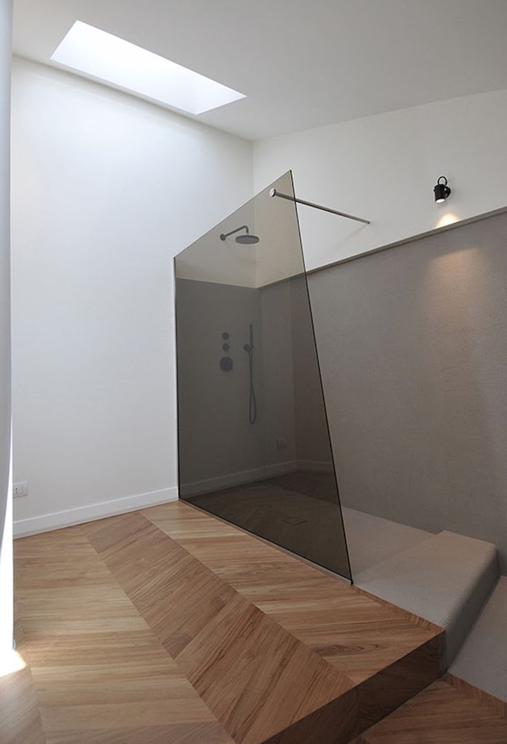 Colored Glass for shower! Cesena Penthouse | Studio Tisselli | Est Living