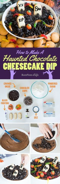 "This is basically a spooky graveyard version of dirt pudding. This is one of <a href=""http://www.buzzfeed.com/lindsayhunt/spooky-scary-halloween-treats"">7 cute and easy treats</a> to make for Halloween."