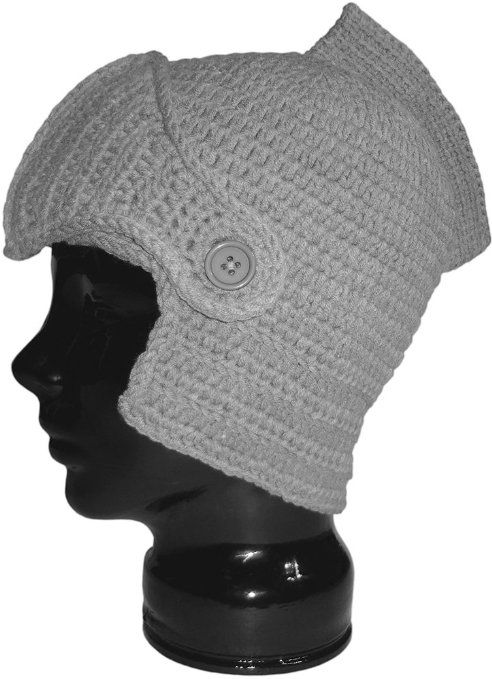 Amazon.com: Authentic Soul Solid Gray Crochet Knight Helmet Hat Knit Renaissa...
