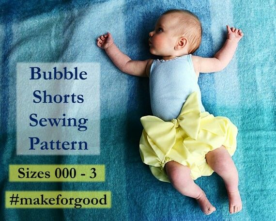 Bubble shorts sewing pattern! Make a pair for your little darling today.