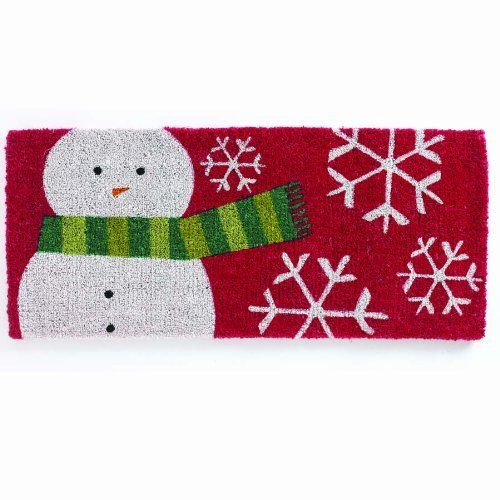 TAG 640126 18-Inch by 40-Inch Winter Snowman Estate Coir Door Mat by Tag. $44.99. Hardy long lasting fibers are used. We utilize high quality fade resistant inks in printing process. For best results please use in a covered area. Generous 18-inch by 40-inch size. Can be shaken or vacuumed clean. Our coir mats are made from a natural, renewable fiber by skilled crafts people in small villages in India. Using traditional processes coconut fibers are harvested and collected by han...
